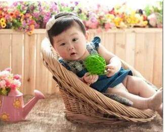 Baptism Baby's First Month Baby Photographic Prop Studio Photography for Children Auxiliary Real Rattan Chair Basket
