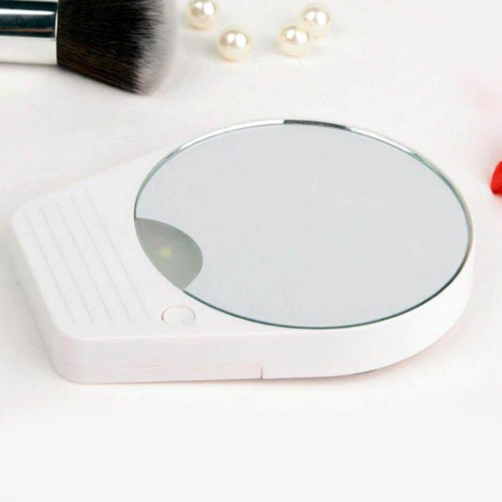 Hot Bán Hàng 10X Phóng Đại LED Vanity Gương Phòng Tắm Hút Trang Điểm Cạo Râu Gương
