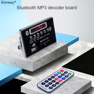 Aitemay Bo Mạch Giải Mã Bluetooth Mô-đun Âm Thanh Không Dây Radio Xe Hơi USB TF FM AUX Radio 12V Với Điều Khiển Từ Xa thumbnail