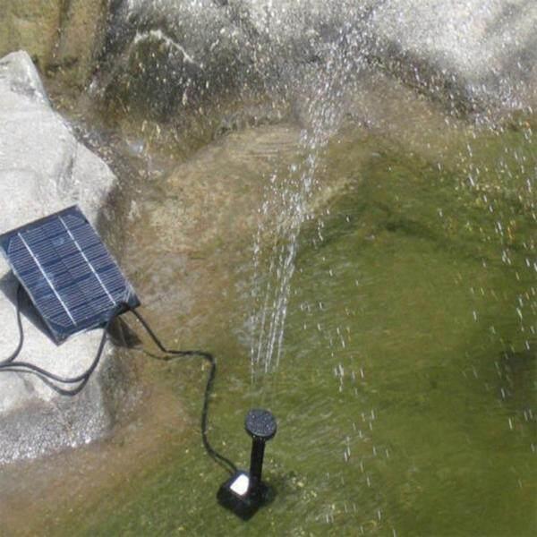 Boleh Dail 3 Model Taman Berkuasa Solar Kolam Air Pancut Air Belakang Rumah Kolam Pam Pam Penyiraman Aliran Max 180L/H