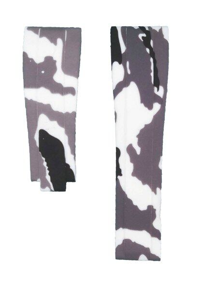 212ZTD White Camouflage Rubber Watch Strap Compatible With Rolex Oysterflex 350501 20mm 487RLX Malaysia