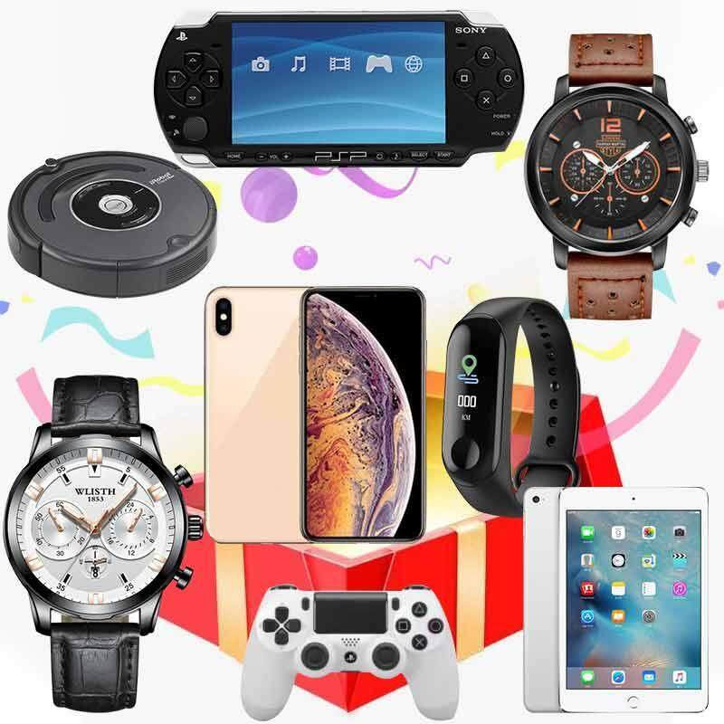 Mystery Box Mystery Gift for All Contains Iphone 7 Nintendo Consoles SONY Camera Wireless Bluetooth Headphoneat Random Malaysia