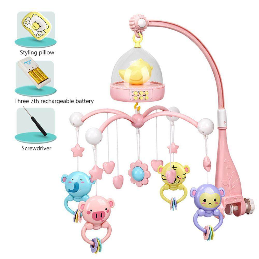 ToHoney Baby Musical Crib Mobile with Timing Function Projector and  Lights,Hanging Rotating Rattles and Remote Control Music Box ,Toy for  Newborn 0-24