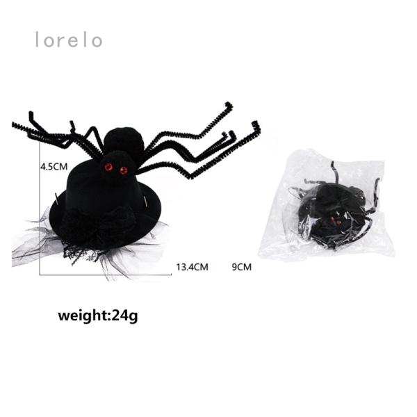 Mũ halloween cho thú cưng caefeeje4, mũ đội đầu vui nhộn hình nhện
