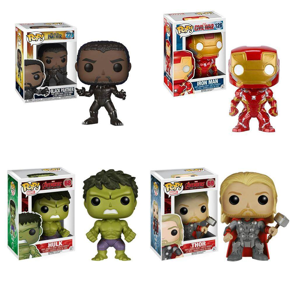 Funko Pop! Avengers Age Of Black Panther Hulk Thor Iron Man Vinyl Action Figure