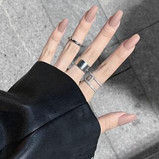 01 bộ 24 móng tay giả, phong cách châu Âu, dài, đầu tròn - INTL thumbnail