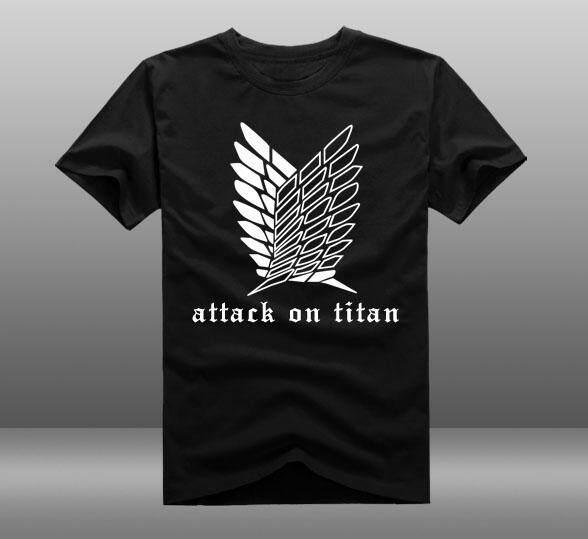Attack on Titan T-shirt Cosplay Anime Jiyuu no Tsubasa T-shirt Summer Cotton 32dd97baa2b65