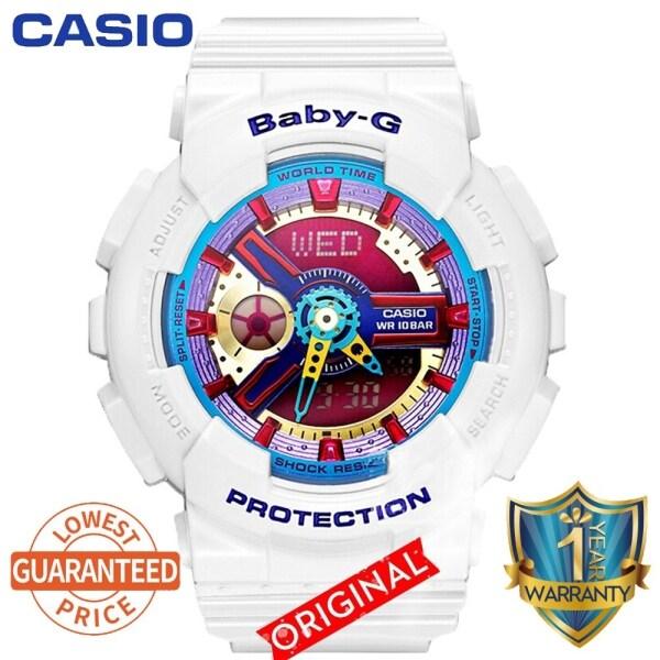 Casio Baby-G BA112 Girls Wrist Watch Women Sport Watches BA-112-7A Jam Tangan Malaysia