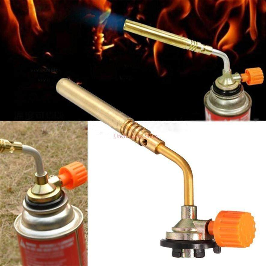 UJS Flamethrower Burner Butane Gas Blow Torch Hand Ignition Camping Welding Tool