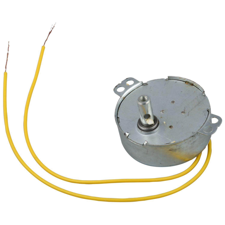 Yellow Wired AC 220V 50/60Hz 3 Watt 5RPM Synchronous Motor