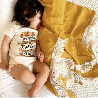 Chăn Tua Rua Cho Bé 80X65Cm, Chăn Trẻ Sơ Sinh Một Màu Thảm Chơi Cotton Cho Bé Trai Bé Gái Phụ Kiện Chụp Ảnh Cho Trẻ Sơ Sinh thumbnail