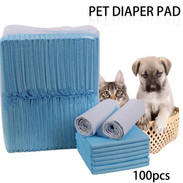 100 Cái/lốc Siêu Thấm Pet Tã Chó Đào Tạo Pee Pads Khỏe Mạnh Sạch Ướt Mat Cho Chó Mèo 33Cm/45Cm