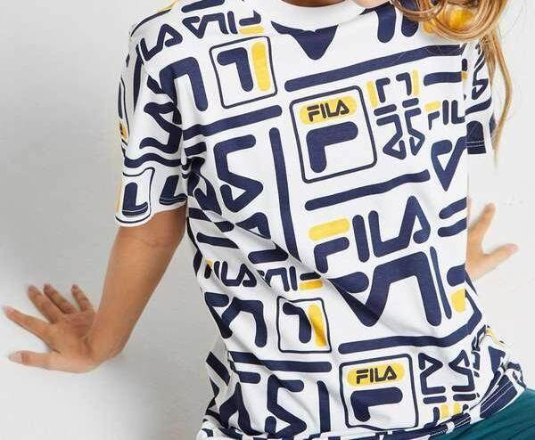 Fila Full Letters Yellow Navy