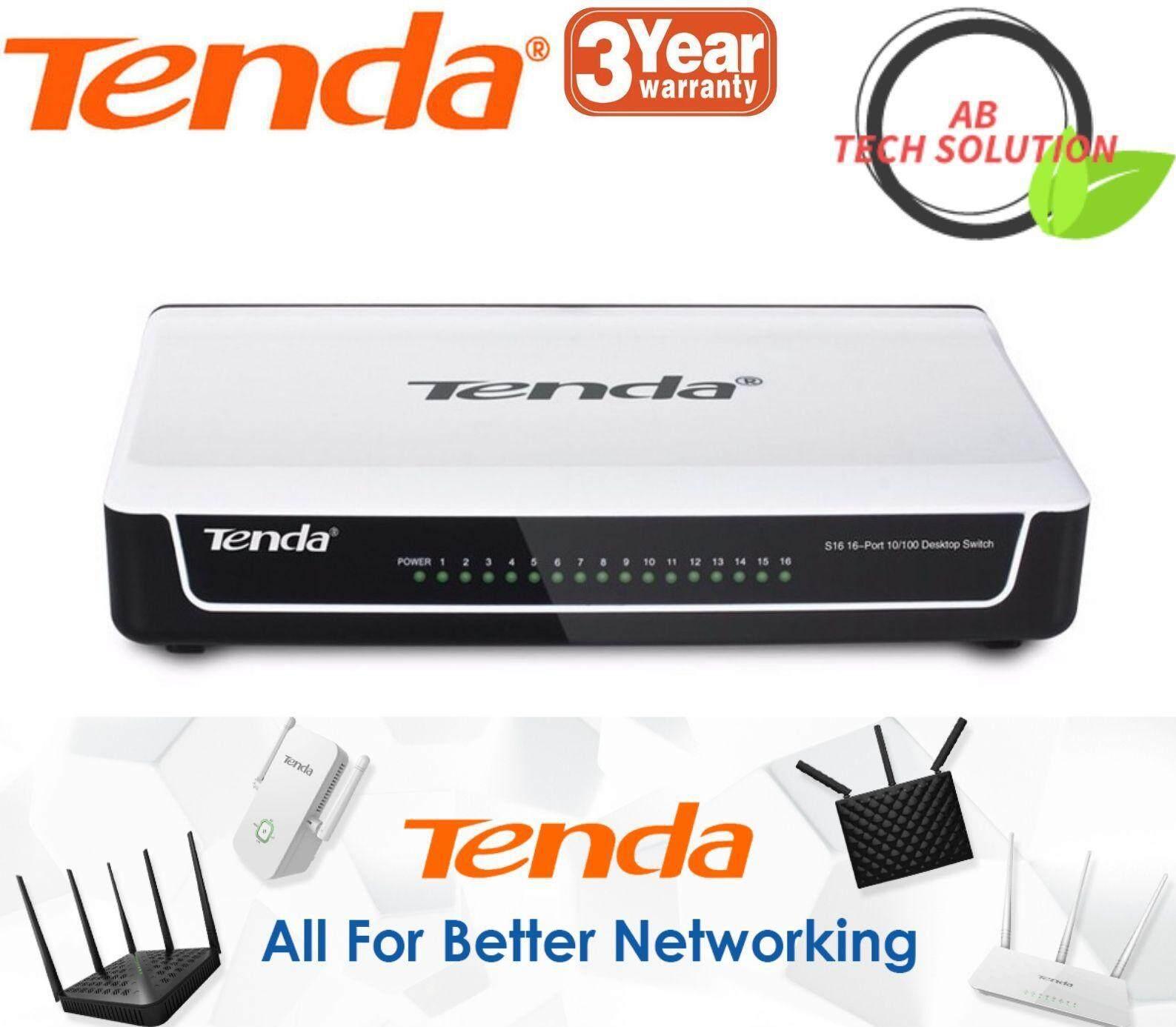 Tenda S16 16-Port Desktop Switch (Tenda Malaysia)