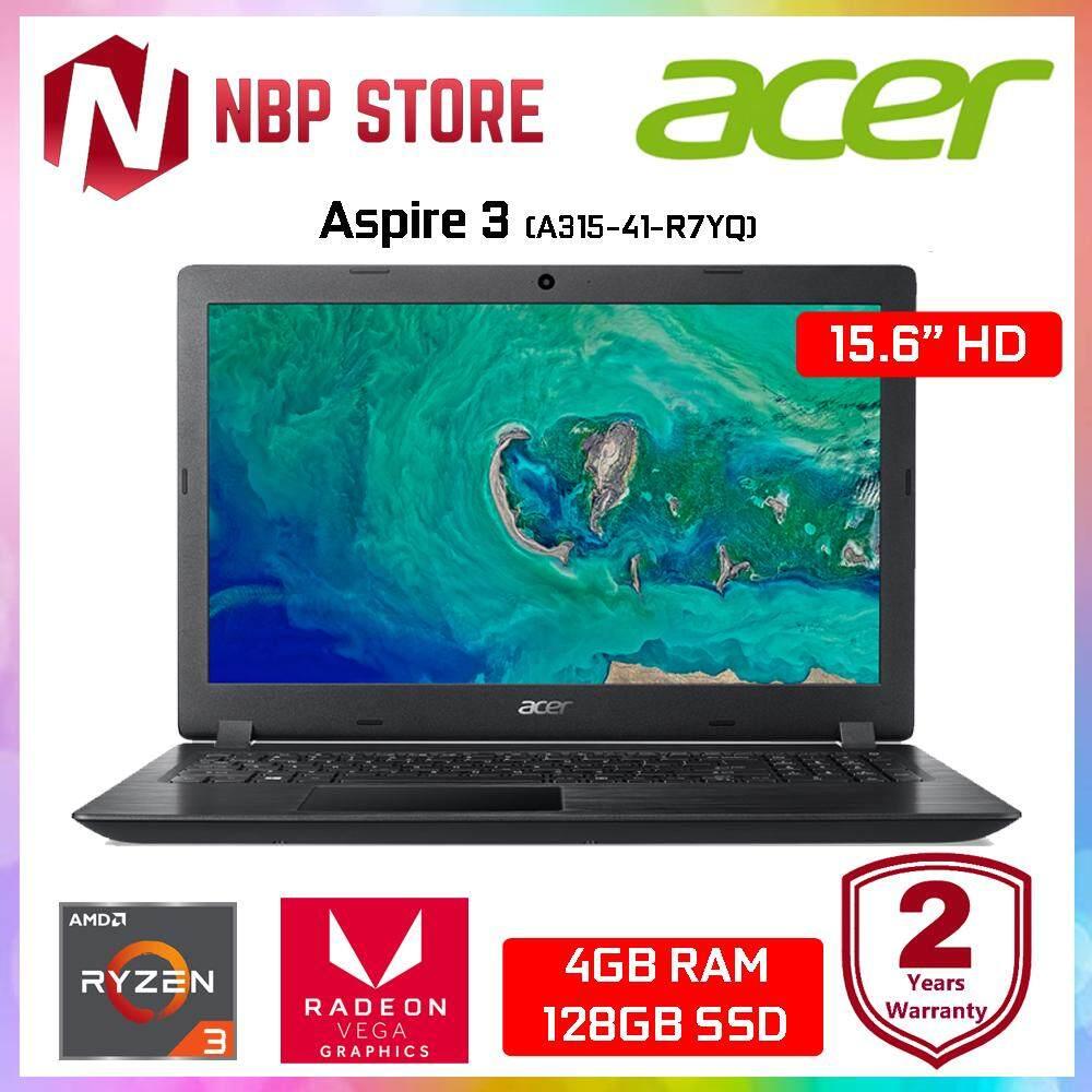 Acer Aspire 3 A315-41-R7YQ 15.6 Laptop Black (Ryzen 3 2200U, 4GB, 128GB, ATI, W10) Malaysia