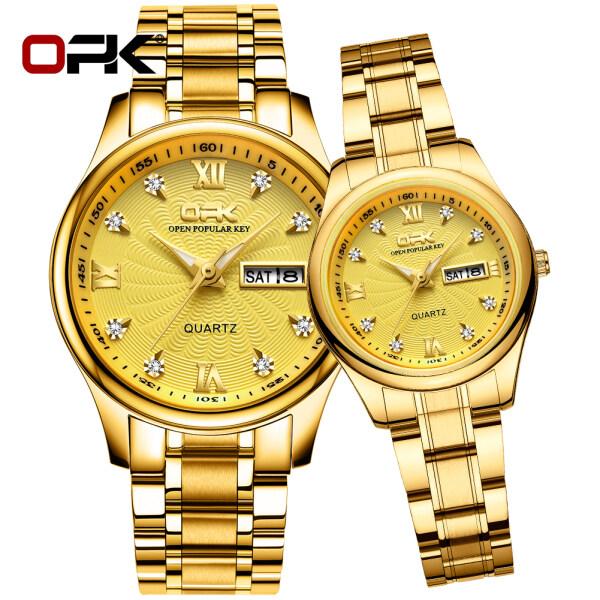 OPK Fashion Couple Watch Buy 1 Take 1 Original On Sale Relo Waterproof Couple Watch For Men and Women 1 Pair Malaysia