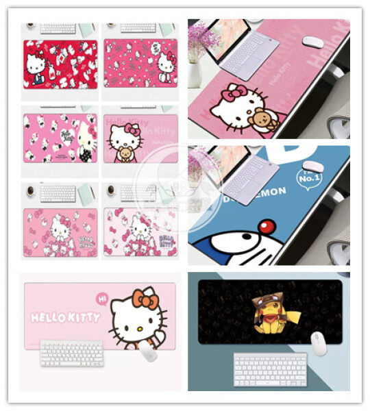 Cute Cartoon Hello Kitty Doraemon Mousepad Large Mouse Pad Multi Functional Desktop Table Keyboard Office Home Desk Pad Malaysia
