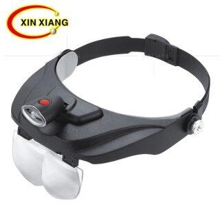 ZZOOI Headband Glasses Magnifier 1.2X 1.8X 2.5X 3.5X led Magnifier Eye Wear Magnifying Glass With LED Jewelry Repair Binocular Loupe thumbnail