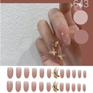 24 Cái bộ Miếng Dán Móng Tay Dài Miếng Dán Móng Tay Giả Acrylic Toàn Bộ Móng Tay Giả Hình Con Bướm Móng Tay Giả Dụng Cụ Làm Móng Tay Nghệ Thuật thumbnail