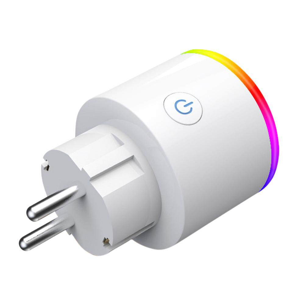 SYD# RGB Colors Change Intelligent Wifi Socket with Voice Control European Plug