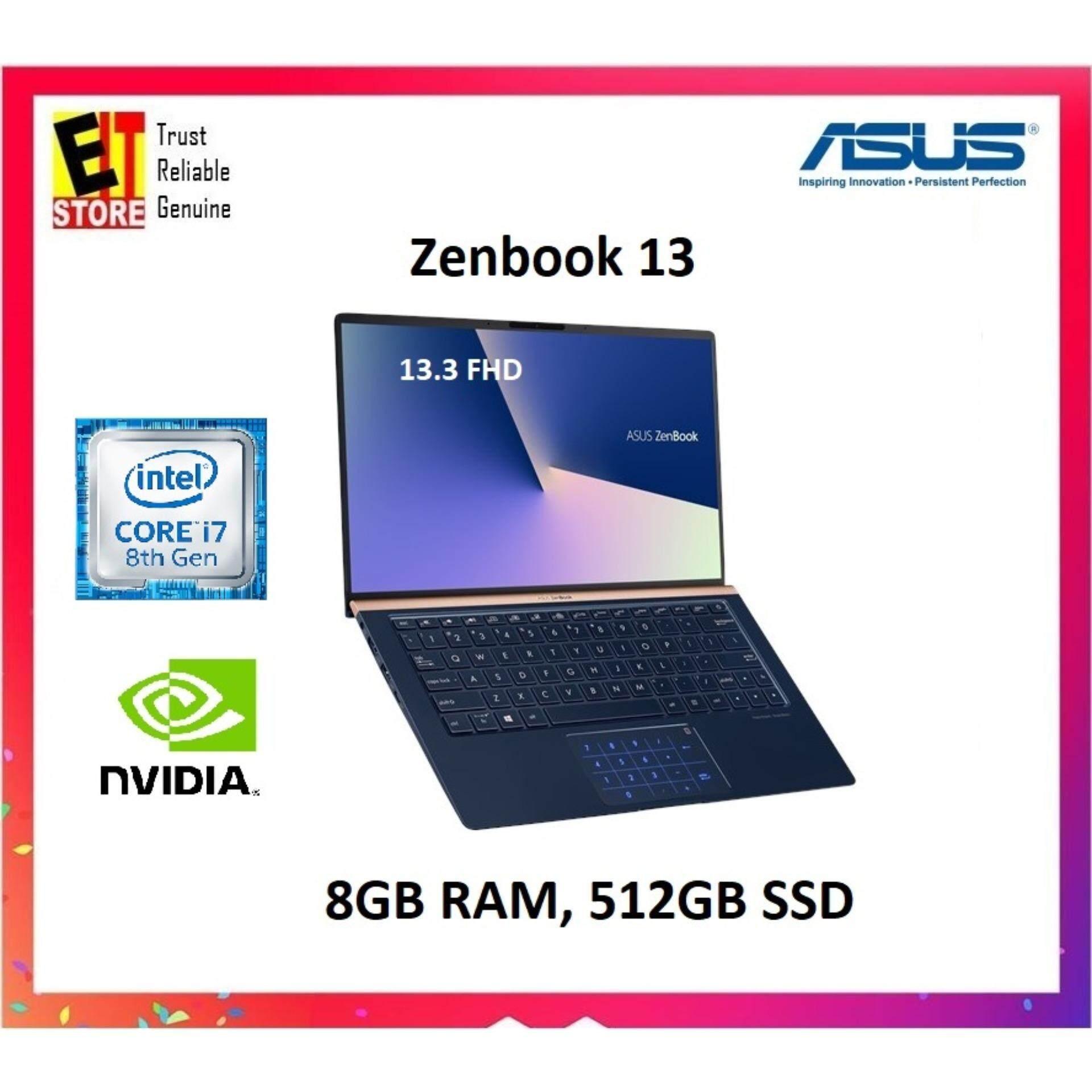 Asus ZenBook UX333F-NA4098T 13.3 FHD Royal Blue (i7-8565U, 8GB, 512GB, NV MX150, W10H) 2 Years Warranty Malaysia