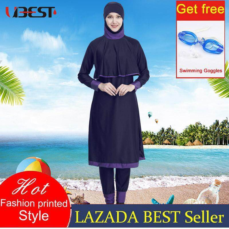 d528455bb9 Ubest Ladies Full Cover Muslim Swimwears Islamic Womens Swimsuits Arab Islam  Beach Wear Long Modest Islamic