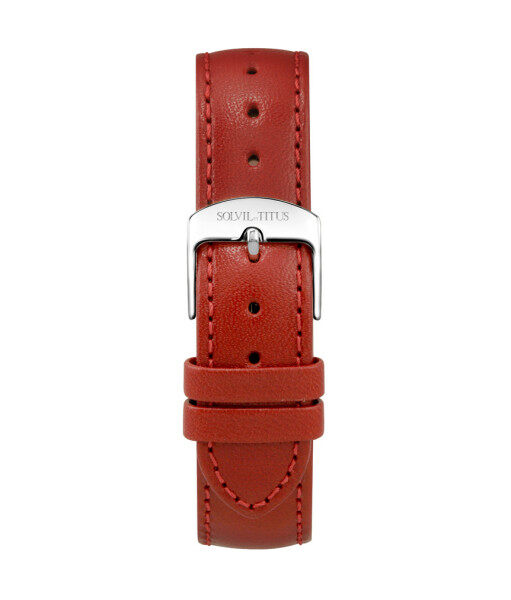 Solvil et Titus T06-024-25-061 16mm Red Leather Watch Strap Malaysia