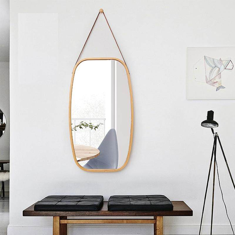 Bathroom Mirror Makeup Mirror Wall Hanging Mirror Entrance Mirror By Olive Al Home(74*43cm) By Olive Al Home.