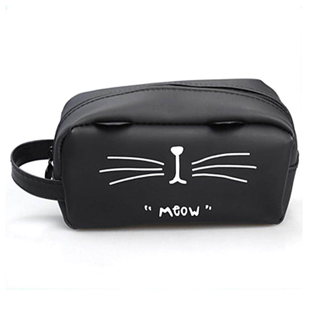 Đơn giản Hoạt Hình Mèo Đáng Yêu Đựng Trang Điểm Túi Đựng Túi Sinh Viên Văn Phòng Phẩm