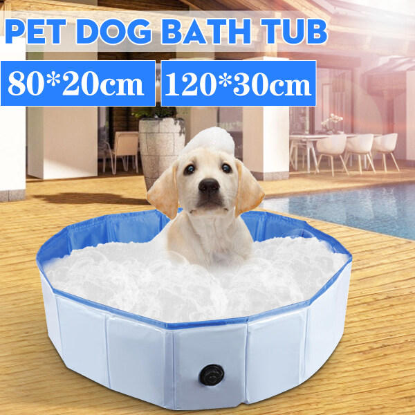 PVC Foldable Dog Swimming Pool Pet Bathtub Outdoor Home Cat Puppy Bathing Pool