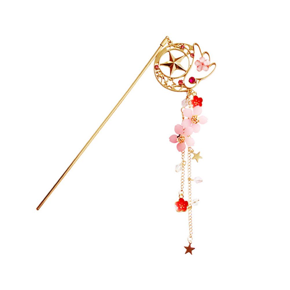 Quan Lại-Thủy Thủ Mặt Trăng Card Captor Cardcaptor Sakura Tóc Pin Phụ Kiện Kẹp Tóc Kẹp Tóc Trang Phục cao cấp