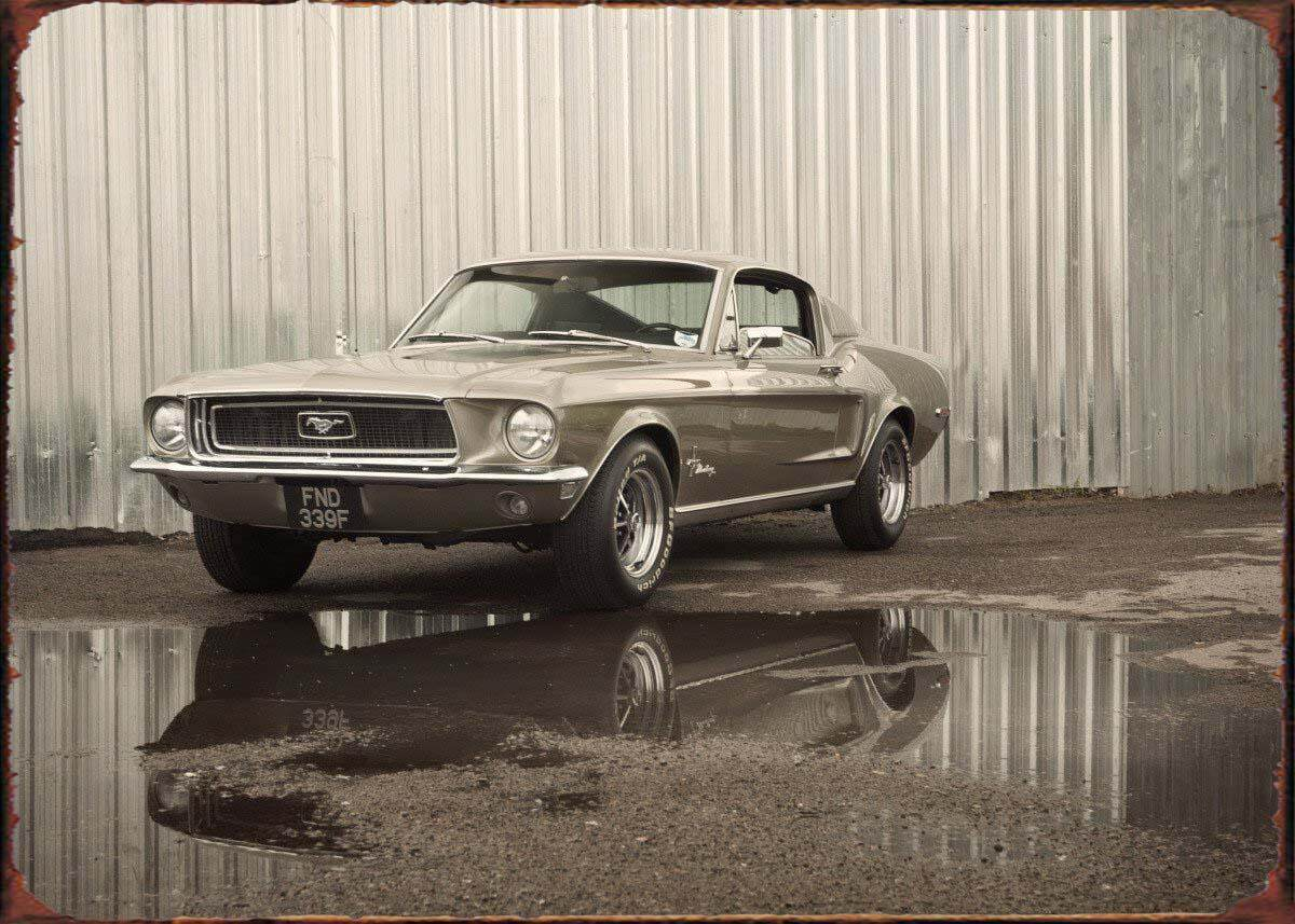 20x30 cm metal plaque tin sign vintage style Ford Mustang American muscle car
