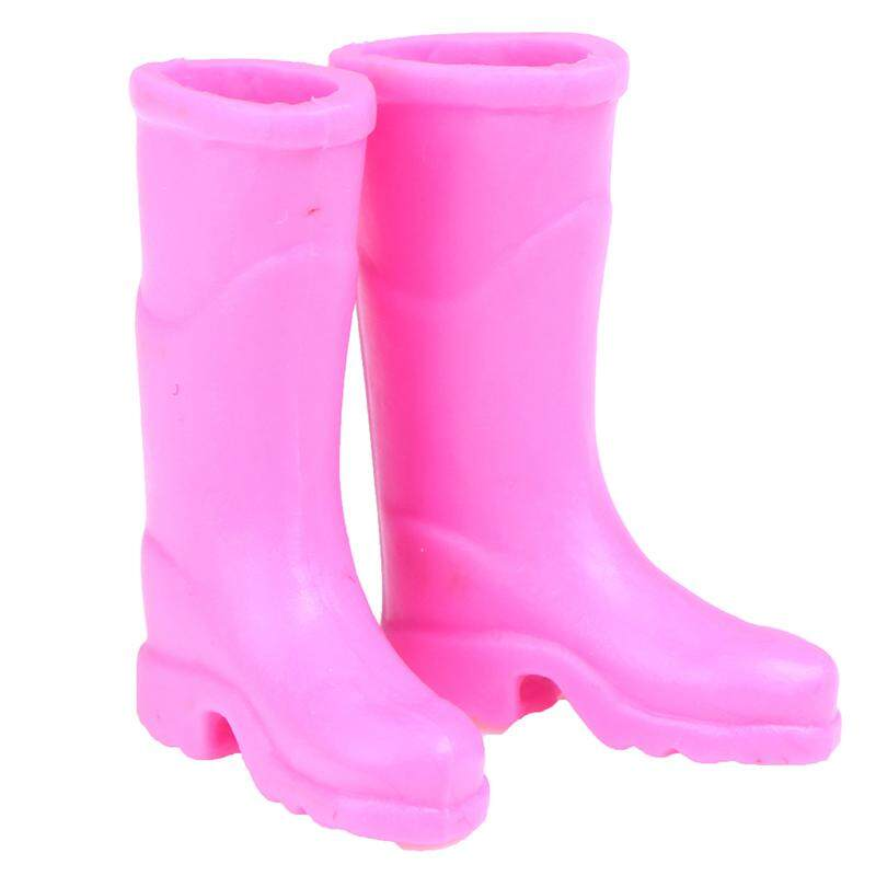 1:12 Plastic Rain Boots Dollhouse Miniatures Decoration Accessory Pink