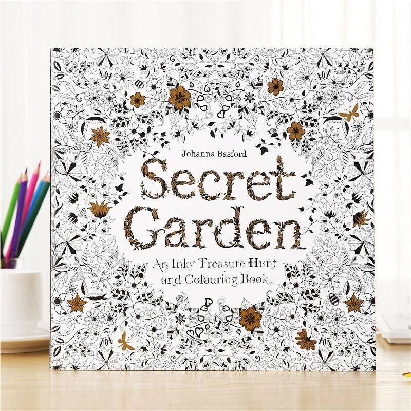 96 pages Colouring Book - Secret Garden Big size - 25x25cm Malaysia