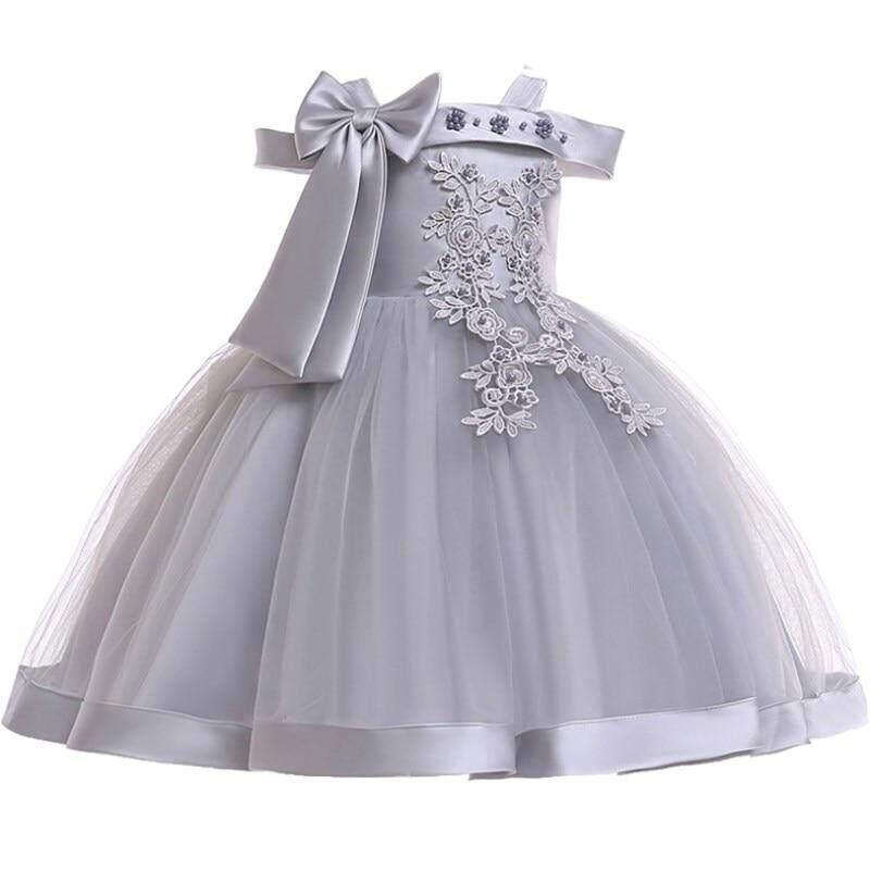 Giá bán Bé Gái 3D Lụa Hoa Công Chúa cho Tiệc Cưới Nơ Lớn TUTU Trẻ Em Váy Đầm cho Bé Gái Thời Trang Trẻ Em quần áo