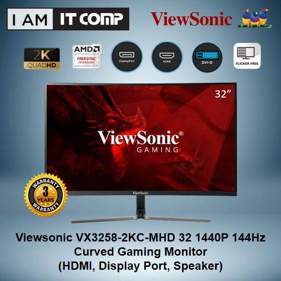 Viewsonic VX3258-2KC-MHD 32  1440P 144Hz Curved Gaming Monitor Malaysia
