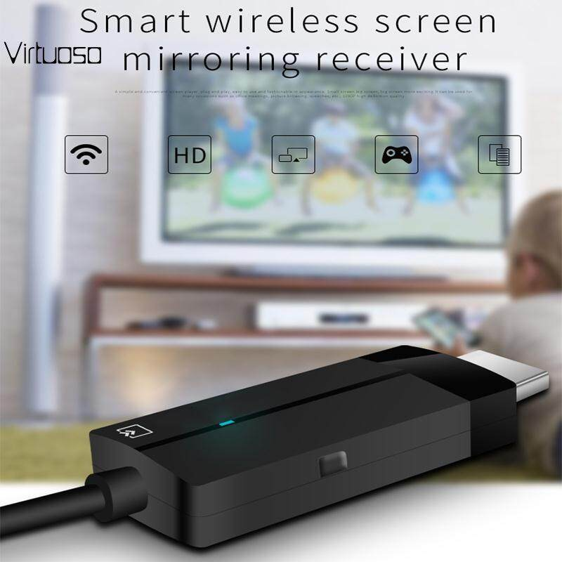Virtuoso WIFI HDMI Output Airplay Wireless Display Receiver DLNA Push Device Phone TV Stick Adapter Accessories Portable