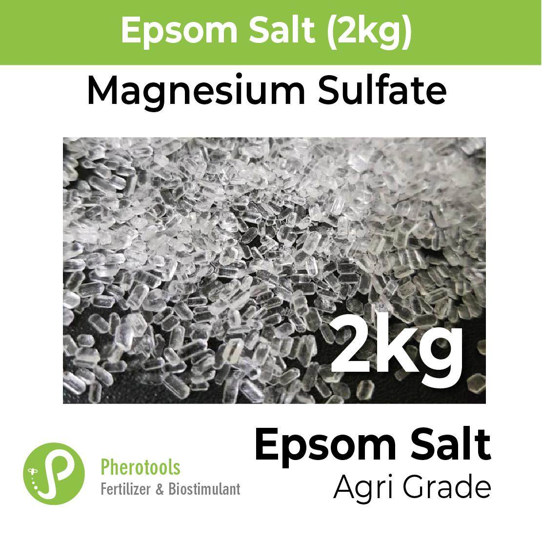 2kg Epsom Salt (magnesium Sulfate) - Agricultural Grade (magnesium Sulphate Mg2so4) By Plants & Bugs.