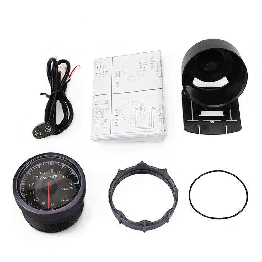 TOP CNSPEED 60mm 7 Colors backlight Pointer Auto Car Voltmeter Volts Gauge Meter
