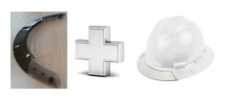 Combo Deal : White Bullard AboveView Safety Helmet + Grey Replacement Brim Visor
