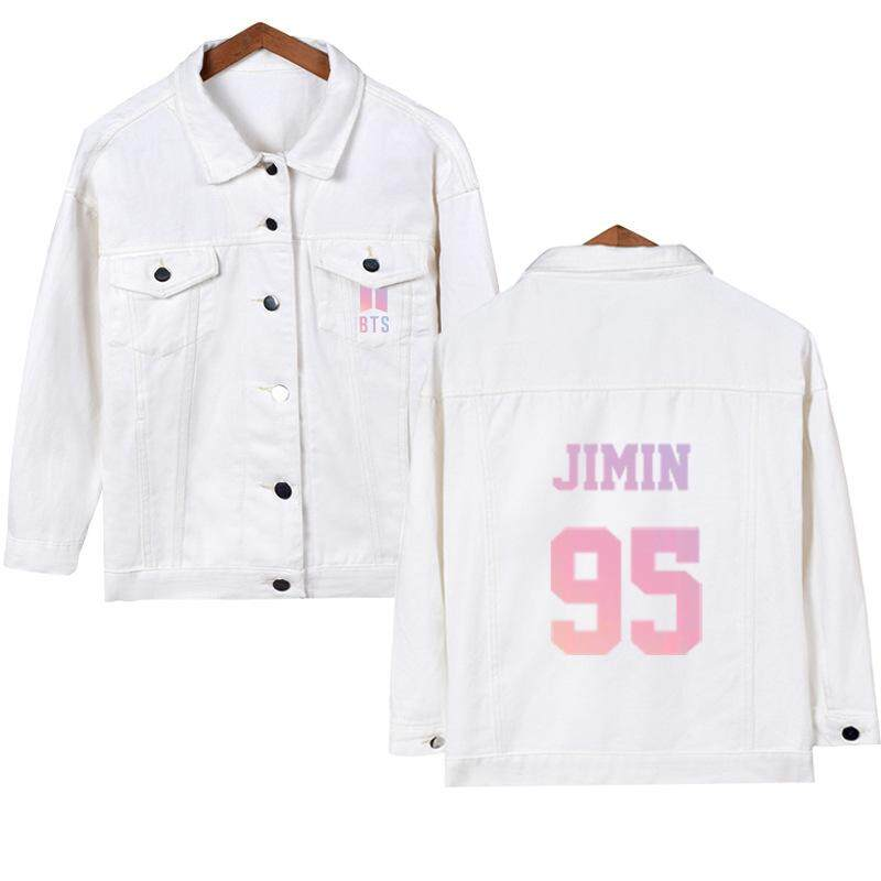 Bts Jackets & Coats Support Celebrity Inspired Denim Jacket Cardigan Korean-Style Single Breasted Women Jackets & Coats By 2018jiaojiao.
