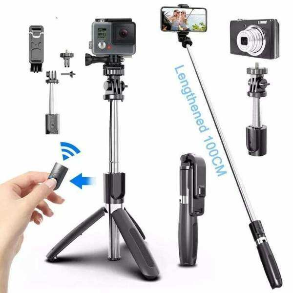Gậy Chụp Ảnh Tự Sướng Bluetooth Xoay 360 Chân Máy Đơn Với Điều Khiển Từ Xa Dành Cho Tất Cả Điện Thoại Thông Minh Kiểm Soát Bluetooth Không Dây Điện Thoại Di Động Gậy Selfie, Camera Hành Động Thể Thao Gopro Cho Điện Thoại 4.0-6.2 Inch