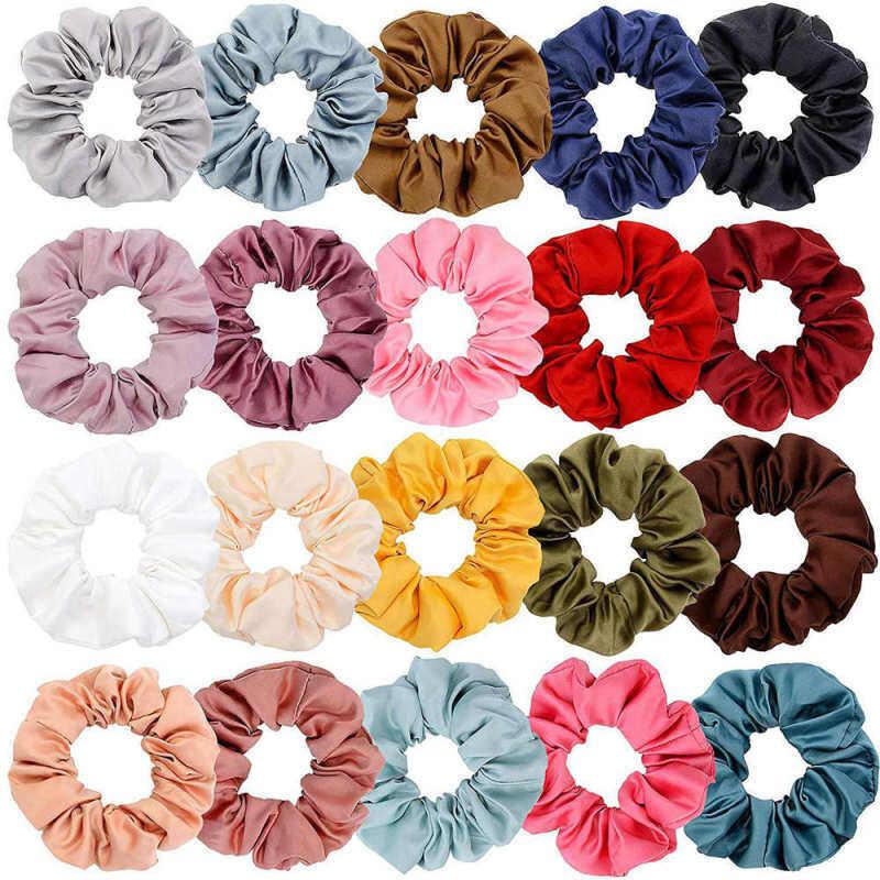 10 Chiếc Thời Trang Phối Màu Scrunchies Thun Cột Tóc Cho Nữ Đồng Màu Mũ Phụ Kiện Tóc cao cấp