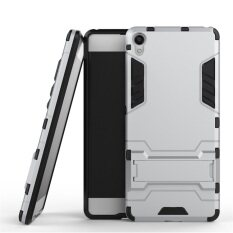 Dual Layer Protective Hybrid Armor Case with Kickstand Feature for Sony .