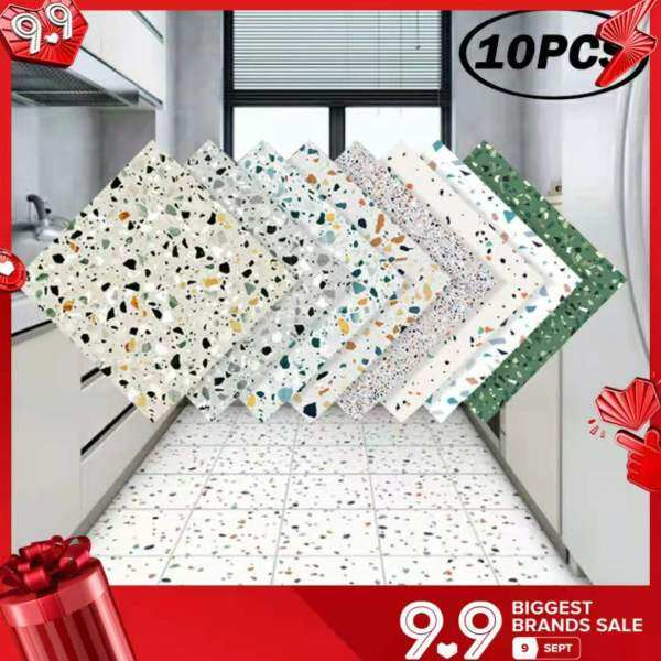 Miếng Dán Sàn Đá Cẩm Thạch PVC, Giấy Tiếp Xúc Mặt Đất Chống Trượt Chống Thấm Nước Tự Dính Đề Can Cải Tạo Tự Làm Trang Trí Sàn Tường