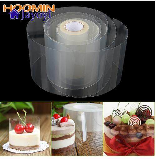 Jayoyi 8cm Or 10cm Transparent Mousse Surrounding Board Packaging Tape Cake Baking Dessert Collar DIY Cake Decorating Tools