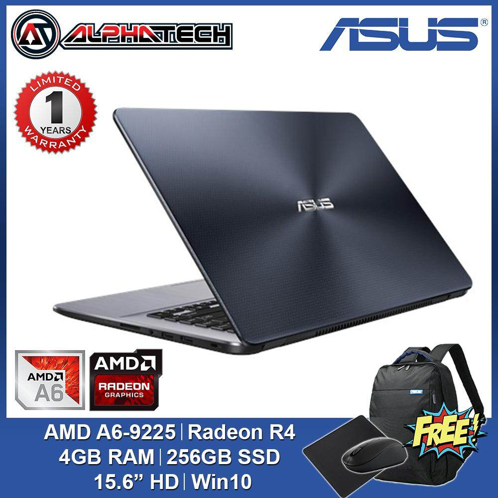 ASUS VivoBook 15 X505B-ABR493T, AMD A6-9225 | 4GB | 256GB SSD | 15.6  | Windows 10 64Bits | Grey Malaysia