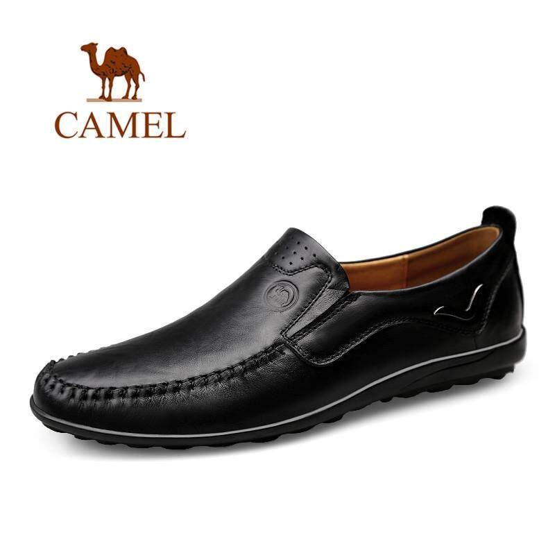 Cowhide Leisure Men Slip On Loafers Shoes Leather Driving Flats Shoes Breathable