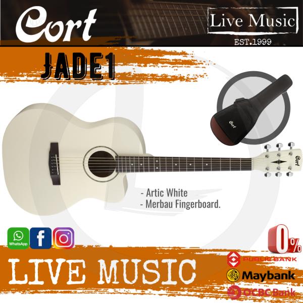 Cort Jade1 - Acoustic Guitar with Gig Bag - Arctic White (Jade 1/Jade-1) Malaysia