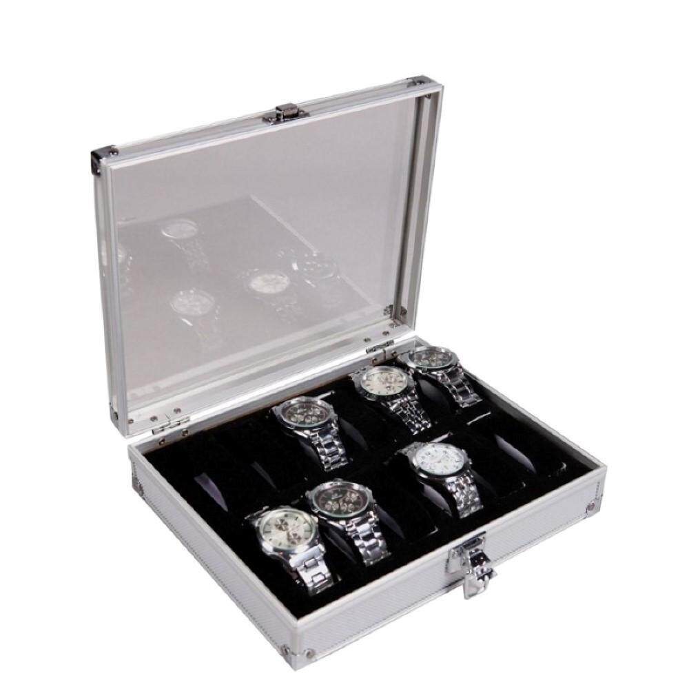 Premium Aluminium Watch Display & Storage Box Case s 10 slot
